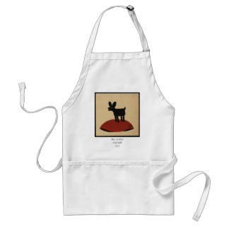 Odd Funny Looking Dog - Colorful Book Illustration Adult Apron