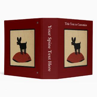 Odd Funny Looking Dog - Colorful Book Illustration Binder