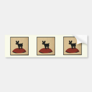 Odd Funny Looking Dog - Colorful Book Illustration Bumper Stickers