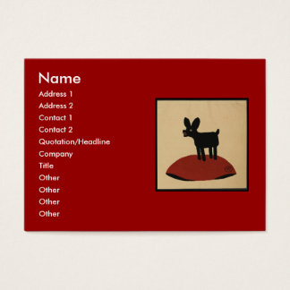 Odd Funny Looking Dog - Colorful Book Illustration Business Card