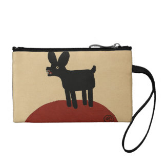Odd Funny Looking Dog - Colorful Book Illustration Coin Wallet