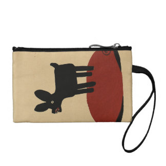 Odd Funny Looking Dog - Colorful Book Illustration Coin Wallets