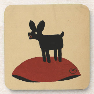 Odd Funny Looking Dog - Colorful Book Illustration Coaster