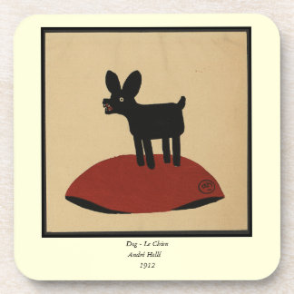 Odd Funny Looking Dog - Colorful Book Illustration Drink Coaster