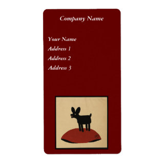 Odd Funny Looking Dog - Colorful Book Illustration Label