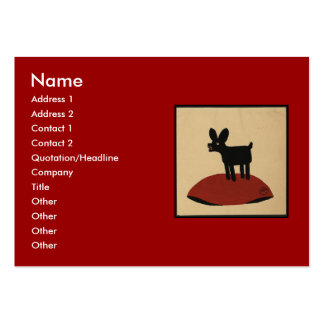 Odd Funny Looking Dog - Colorful Book Illustration Large Business Card