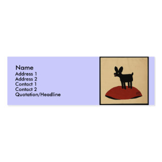 Odd Funny Looking Dog - Colorful Book Illustration Mini Business Card