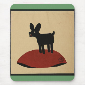 Odd Funny Looking Dog - Colorful Book Illustration Mouse Pad