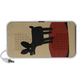 Odd Funny Looking Dog - Colorful Book Illustration Portable Speaker