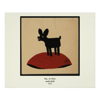 Odd Funny Looking Dog - Colorful Book Illustration Poster
