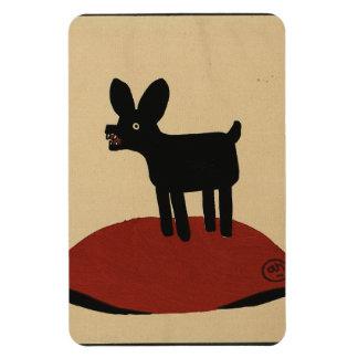 Odd Funny Looking Dog - Colorful Book Illustration Rectangular Photo Magnet