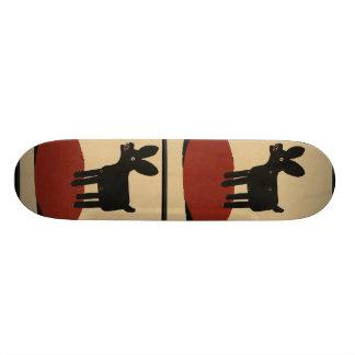 Odd Funny Looking Dog - Colorful Book Illustration Skateboards