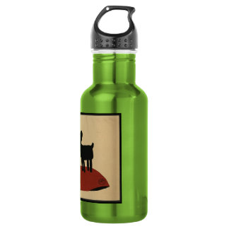 Odd Funny Looking Dog - Colorful Book Illustration Water Bottle