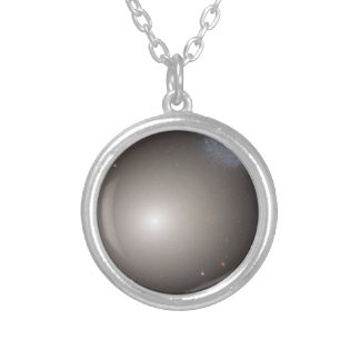Odd Galaxy Couple on Space Voyage Round Pendant Necklace