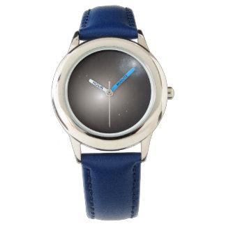 Odd Galaxy Couple on Space Voyage Wrist Watch