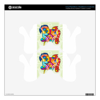 odd happy creatures colorful illustration noa isra decal for PS3 controller