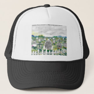 Odd Headstones Funny Cartoon Gifts & Collectibles Trucker Hat