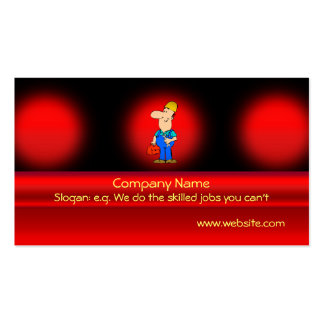 Odd-job handyman service on red metallic-effect Double-Sided standard business cards (Pack of 100)