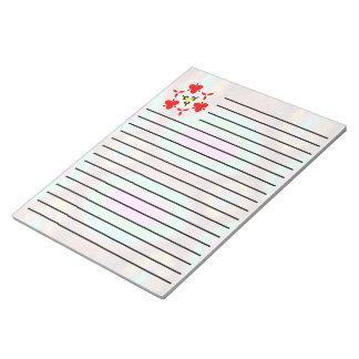 Odd multicolored pattern notepad