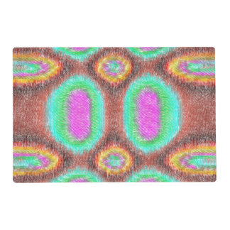 Odd multicolored pattern placemat