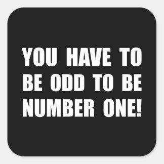 Odd Number One Square Sticker