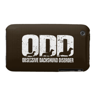 ODD - Obsessive Dachshund Disorder (distressed) iPhone 3 Case
