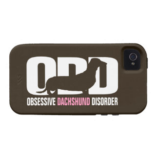 ODD - Obsessive Dachshund Disorder (distressed) iPhone 4 Case