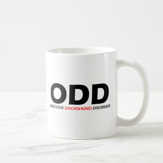 ODD - Obsessive Dachshund Disorder Classic White Coffee Mug