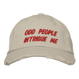 ODD PEOPLE EMBROIDERED BASEBALL HAT