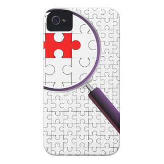 Odd Piece Magnifying Glass iPhone 4 Cover