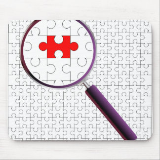 Odd Piece Magnifying Glass Mouse Pad