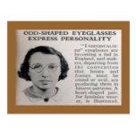 """Odd-Shaped Eyeglasses"" Postcard"