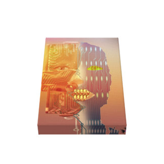 Odd shaped robot gallery wrapped canvas