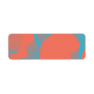 Odd Wavy Bends blue peach Custom Return Address Labels