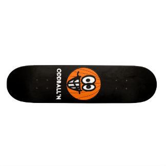 Oddball'n black skate board deck