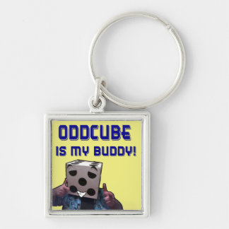 ¡Oddcube es mi compinche! Llavero Cuadrado Plateado