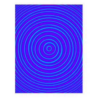 Oddisphere Blue Purple Optical Illusion Postcard
