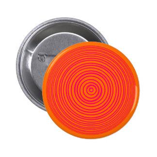 Oddisphere Pink Orange Optical Illusion Pinback Button