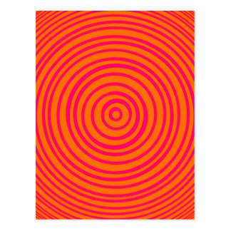 Oddisphere Pink Orange Optical Illusion Postcard