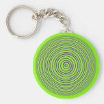Oddisphere Purple Lime Optical Illusion Key Chains