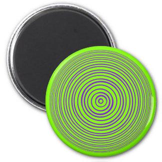 Oddisphere Purple Lime Optical Illusion Magnet