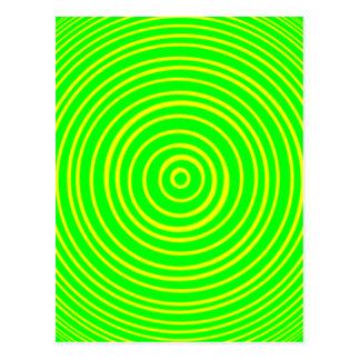 Oddisphere Yellow Green Optical Illusion Postcard