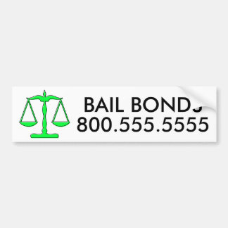 oddRex bail bonds Bumper Sticker