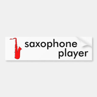 oddRex saxophone Car Bumper Sticker
