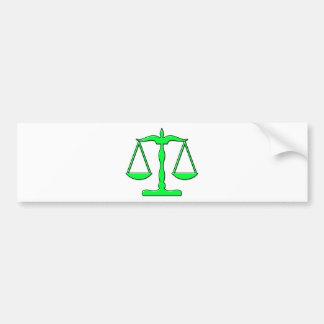 oddRex scales of justice Bumper Sticker