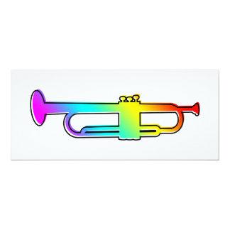 """oddRex trumpet 4"""" X 9.25"""" Invitation Card"""