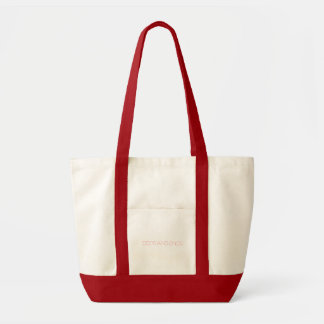 Odds and Ends - Natural/Red Tote