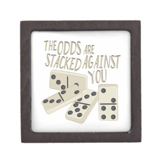 Odds Are Stacked Keepsake Box