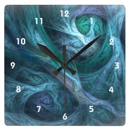 Oddyssy en reloj cuadrado azul