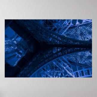 Ode à Eiffel #10 / Blue Poster